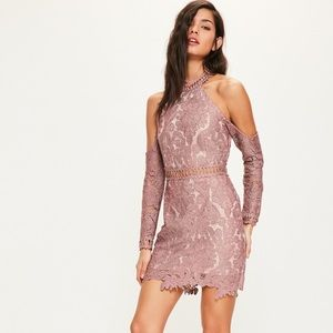 🌟 Missguided Lace Cold Shoulder Bodycon Dress 🌟